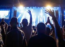 Leute am Konzert Lizenzfreies Stockbild
