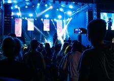 Leute am Konzert Stockbild
