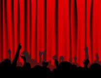 Leute am Konzert lizenzfreie abbildung