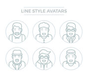 Leute-Linie Avataras Stockfotografie