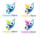 Leute-Logo Lizenzfreie Stockfotos