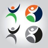 Leute-Logo Lizenzfreies Stockfoto