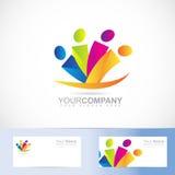 Leute-Logo Lizenzfreies Stockbild