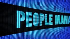 Leute-Management-Seite simsen das In einer Liste verzeichnen des LED-Wand-Anzeigetafel-Zeichen-Brettes stock video footage