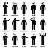 Leute-Mann-Gefühl-Gefühls-Tätigkeits-Piktogramm Stockfotos