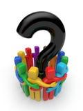 Leute mit Frage. Teamwork-Metapher Lizenzfreie Stockfotografie