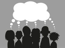 Leute mit Spracheluftblasen ENV Lizenzfreies Stockfoto