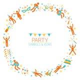 Leute-Partei-Symbol-Kranz Stockbild