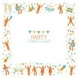 Leute-Partei-Symbol-Rahmen Stockfoto