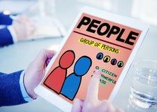 Leute Person Group Citizen Community Concept Lizenzfreie Stockfotos