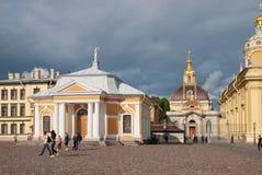 Leute in Peter und in Paul Fortress St Petersburg Russland Lizenzfreies Stockbild