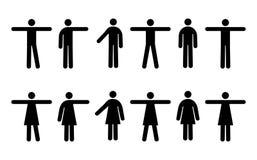 Leute-Piktogramme Stockfotos