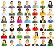 Leute-Porträts lizenzfreie abbildung
