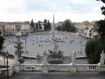 Leute quadrieren Rom Italien lizenzfreies stockbild