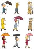 Leute - regnerischer Tag Lizenzfreies Stockbild