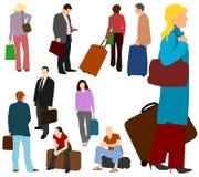 Leute-reisendes Set 01 Lizenzfreie Stockfotografie