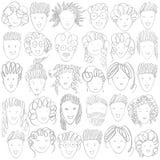 Leute ` s Gesichter auf weißem Hintergrund Es kann für Leistung der Planungsarbeit notwendig sein vektor abbildung