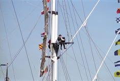 Leute an Segel 95 Stockbild