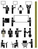 Leute - Set vektorikonen Lizenzfreies Stockfoto