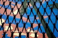 Leute silhouettieren Hintergrund Lizenzfreies Stockbild