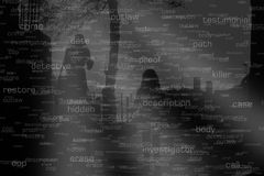 Leute Sillouete und gerichtliche Ausdrücke und Link-Analyse-Verbindungen Lizenzfreie Stockbilder