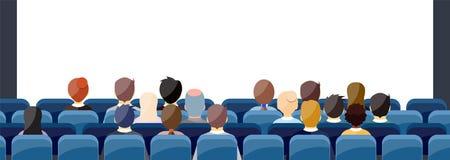 Leute Sit Cinema Hall vektor abbildung