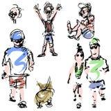 Leute-Skizzen Stockbilder