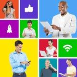 Leute-Social Networking Lizenzfreie Stockfotografie