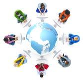 Leute-Social Networking-und Computernetzwerk-Konzepte vektor abbildung