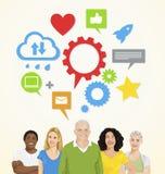 Leute-Social Networking-Vektor Stockbild