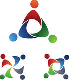 Leute-Team-Symbole Lizenzfreie Stockfotos
