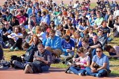 Leute an Ton-Festival 2014 Heinekens Primavera (PS14) Stockbilder