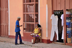Leute in Trinidad, Kuba Lizenzfreie Stockbilder