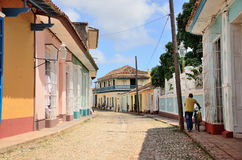 Leute in Trinidad, Kuba Stockbild