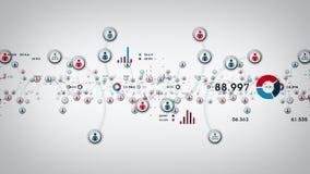 Leute und Daten-Weiß vektor abbildung
