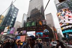 Leute und Gebäude, New York City Midtown Manhattan Stockfoto