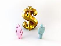 Leute und Geld Stockbild