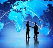 Leute und globales Geschäftstreffen lizenzfreies stockfoto