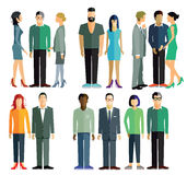 Leute und Gruppen Stockbild