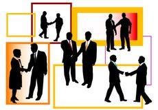 Leute und Händeschütteln Lizenzfreies Stockfoto