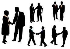 Leute und Händeschütteln Stockbilder