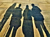 Leute und Schatten Lizenzfreie Stockfotografie