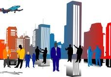Leute und Stadt Lizenzfreies Stockfoto