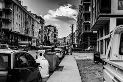 Leute und Straßen der nostalgischen Küsten-Stadt - die Türkei lizenzfreie stockfotografie