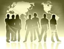 Leute- und Weltkarte Lizenzfreie Stockfotos