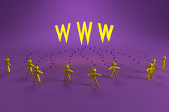 Leute und WWW Lizenzfreies Stockbild