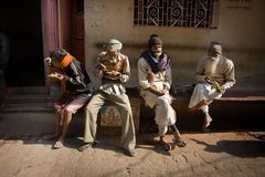 Leute | Varanasi Lizenzfreie Stockfotos