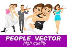 Leute vector mit verschiedenen Charakteren Stockfoto
