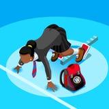 Leute-Vektor-Illustration Studenten-School Kid Colleges isometrische Stockfoto