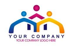 Leute-Verband, Leuteteamarbeit Konzept-Firmalogo Stockfoto